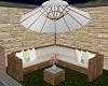 Corner Patio Couch W/umb
