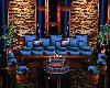 Blue/Copper Sofa Set