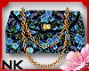 Blue Floral Clutch Purse